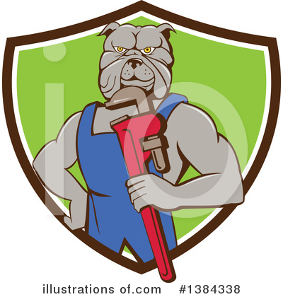 Bulldog Clipart #1384338 by patrimonio