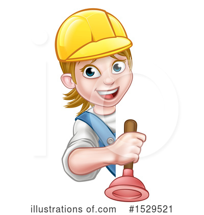 Royalty-Free (RF) Plumber Clipart Illustration by AtStockIllustration - Stock Sample #1529521