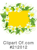 Royalty-Free (RF) Plumeria Clipart Illustration #212012
