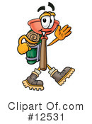 Royalty-Free (RF) Plunger Character Clipart Illustration #12531