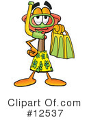 Plunger Character Clipart #12537