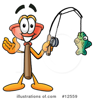 Plunger Character Clipart #12559 by Toons4Biz