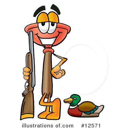 Plunger Character Clipart #12571 by Toons4Biz
