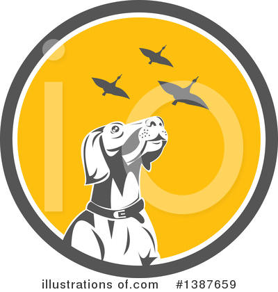 Pointer Dog Clipart #1387659 by patrimonio