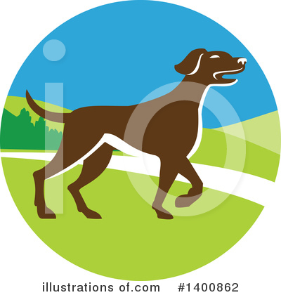 Pointer Dog Clipart #1400862 by patrimonio
