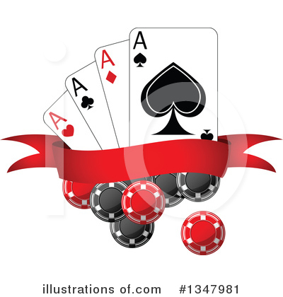 Playing Cards Clipart #1347981 by Vector Tradition SM