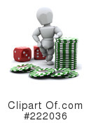 Royalty-Free (RF) poker Clipart Illustration #222036