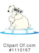 Royalty-Free (RF) Polar Bear Clipart Illustration #1110167