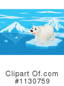Royalty-Free (RF) polar bear Clipart Illustration #1130759