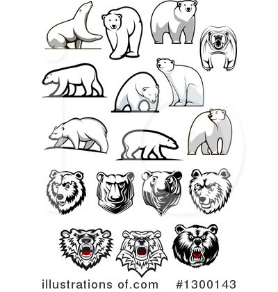 Bear Clipart #1300143 by Vector Tradition SM