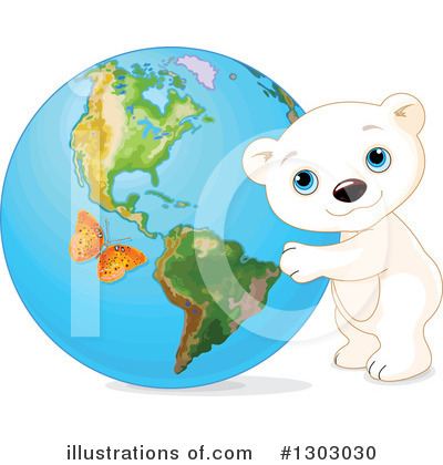 Polar Bear Clipart #1303030 by Pushkin