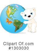 Royalty-Free (RF) Polar Bear Clipart Illustration #1303030