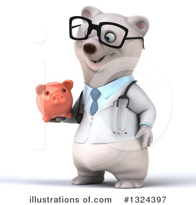 Doctor Polar Bear Clipart #1324397 by Julos
