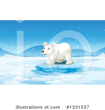 Polar Bear Clipart #1331537 by Graphics RF
