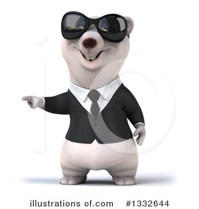 Business Polar Bear Clipart #1332644 by Julos