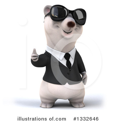 Business Polar Bear Clipart #1332646 by Julos