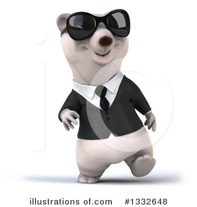 Business Polar Bear Clipart #1332648 by Julos