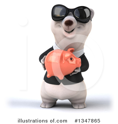 Business Polar Bear Clipart #1347865 by Julos