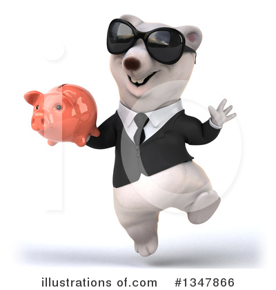 Business Polar Bear Clipart #1347866 by Julos