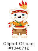 Royalty-Free (RF) Polar Bear Clipart Illustration #1348712