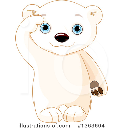 Polar Bear Clipart #1363604 by Pushkin