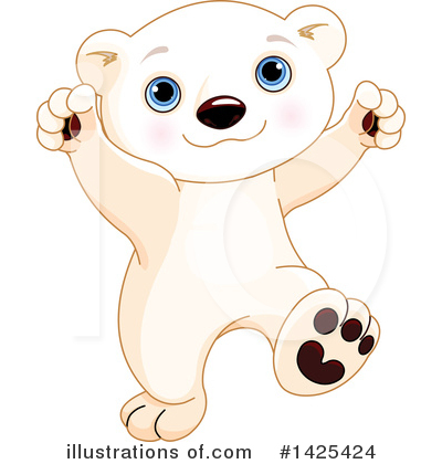 Polar Bear Clipart #1425424 by Pushkin