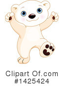 Royalty-Free (RF) Polar Bear Clipart Illustration #1425424