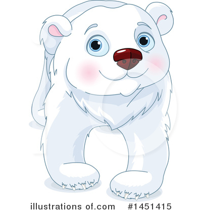 Polar Bear Clipart #1451415 by Pushkin