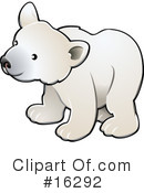 Royalty-Free (RF) polar bear Clipart Illustration #16292