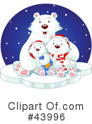 Royalty-Free (RF) Polar Bear Clipart Illustration #43996