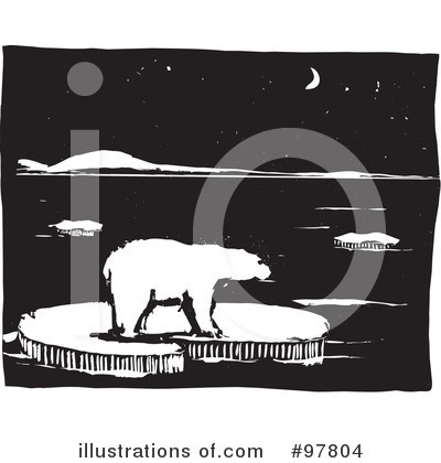 Royalty-Free (RF) Polar Bear Clipart Illustration by xunantunich - Stock Sample #97804