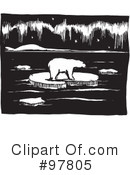 Royalty-Free (RF) Polar Bear Clipart Illustration #97805