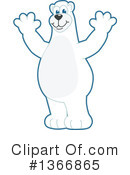 Polar Bear School Mascot Clipart #1366865
