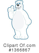 Polar Bear School Mascot Clipart #1366867 by Toons4Biz