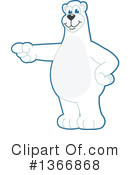 Polar Bear School Mascot Clipart #1366868 by Toons4Biz