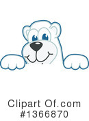 Polar Bear School Mascot Clipart #1366870 by Toons4Biz