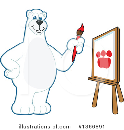 Polar Bear School Mascot Clipart #1366891 by Toons4Biz