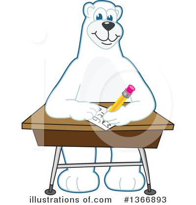 Polar Bear School Mascot Clipart #1366893 by Toons4Biz