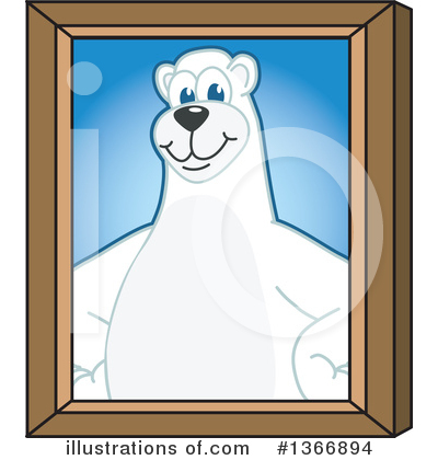 Polar Bear School Mascot Clipart #1366894 by Toons4Biz