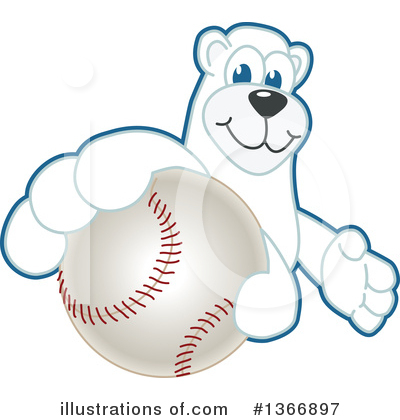 Polar Bear School Mascot Clipart #1366897 by Toons4Biz