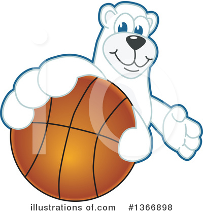 Polar Bear School Mascot Clipart #1366898 by Toons4Biz