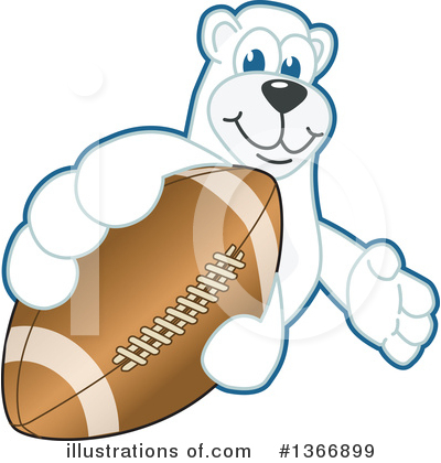 Polar Bear School Mascot Clipart #1366899 by Toons4Biz