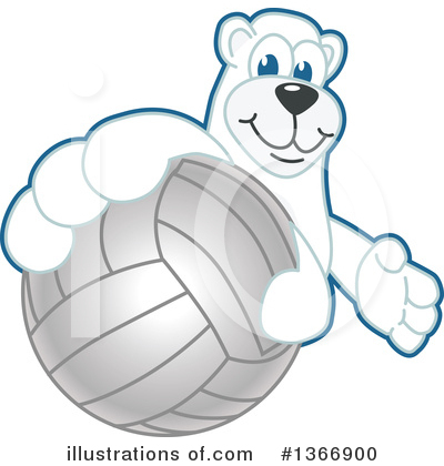 Polar Bear School Mascot Clipart #1366900 by Toons4Biz