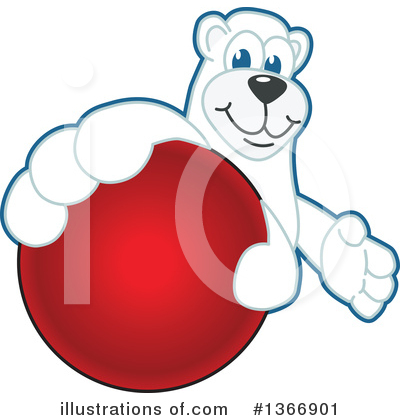 Polar Bear School Mascot Clipart #1366901 by Toons4Biz