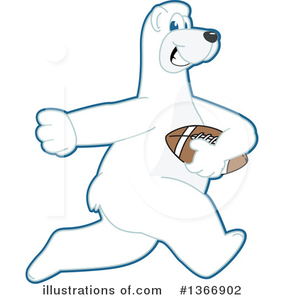 Polar Bear School Mascot Clipart #1366902 by Toons4Biz