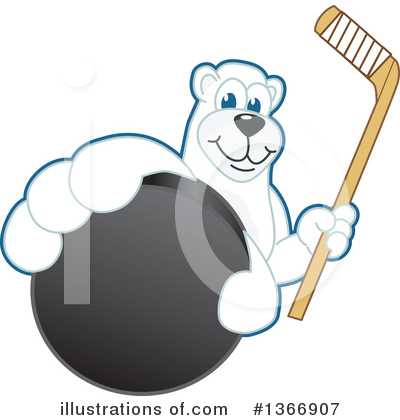 Polar Bear School Mascot Clipart #1366907 by Toons4Biz
