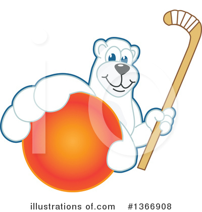 Polar Bear School Mascot Clipart #1366908 by Toons4Biz