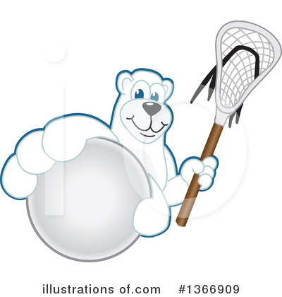Polar Bear School Mascot Clipart #1366909 by Toons4Biz