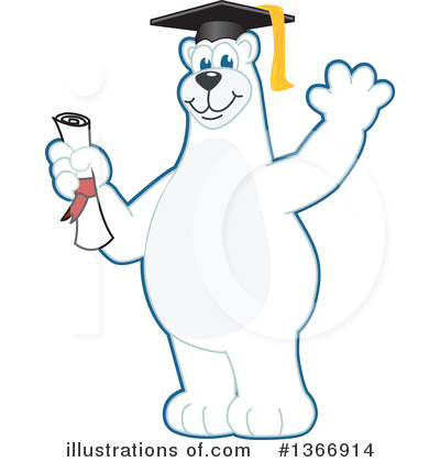 Polar Bear School Mascot Clipart #1366914 by Toons4Biz