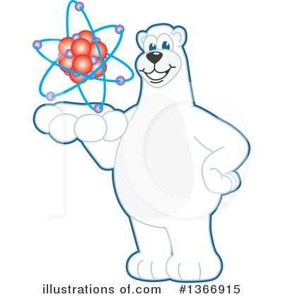 Polar Bear School Mascot Clipart #1366915 by Toons4Biz